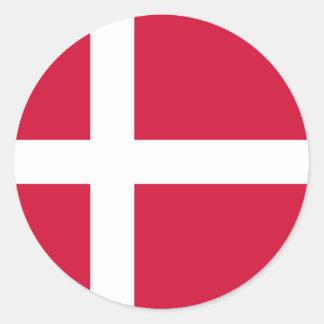 Denmark Flag DK Classic Round Sticker