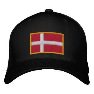 Denmark Flag Embroidered Hat
