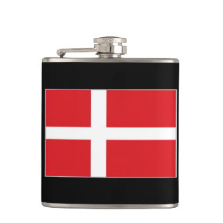 Denmark Flag Hip Flask