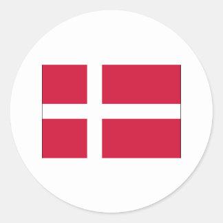 Denmark FLAG International Round Sticker