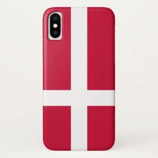 Denmark Flag iPhone X Case