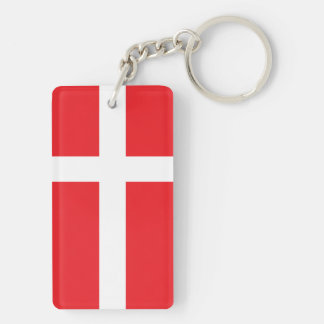 DENMARK FLAG KEY RING