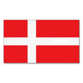 Denmark Flag Magnetic Business Cards