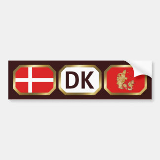 Denmark Flag Map Code Bumper Sticker