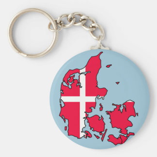 denmark flag map key ring