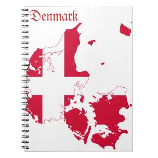Denmark Flag Map Notebook