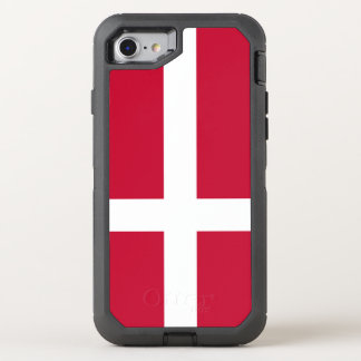Denmark Flag OtterBox Defender iPhone 8/7 Case