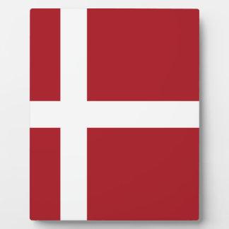 Denmark flag plaque