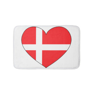 Denmark Flag Simple Bath Mats