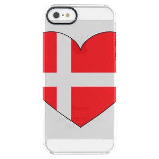 Denmark Flag Simple Clear iPhone SE/5/5s Case