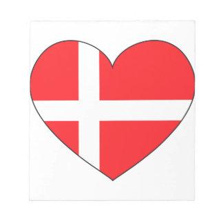 Denmark Flag Simple Notepad
