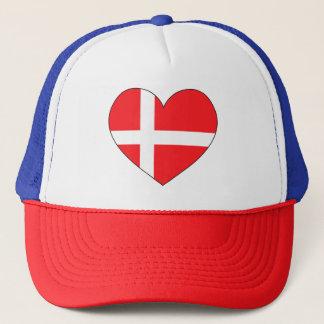 Denmark Flag Simple Trucker Hat