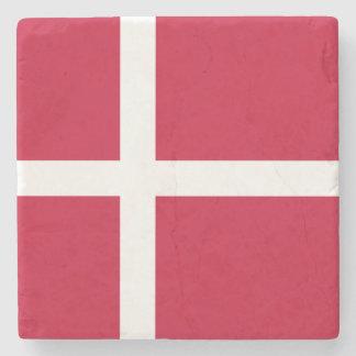 Denmark Flag Stone Coaster