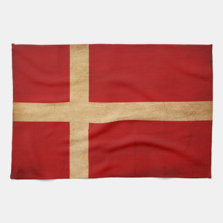 Denmark Flag Tea Towel