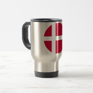 Denmark Flag Travel Mug