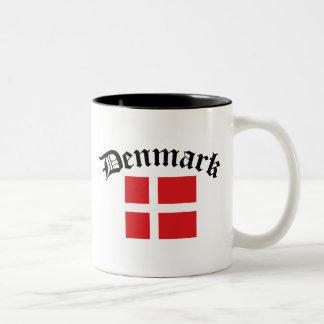 Denmark Flag Two-Tone Coffee Mug