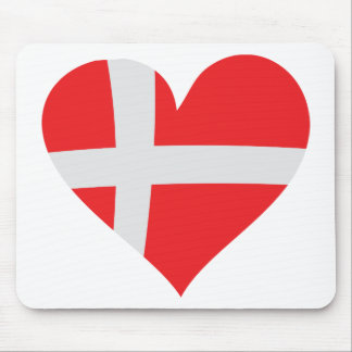 Denmark heart icon mouse pad