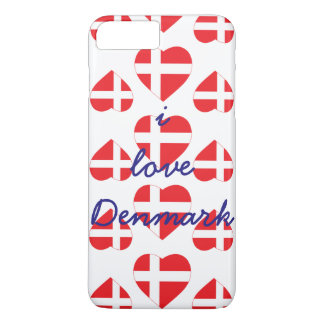DENMARK HEART SHAPE FLAG iPhone 8 PLUS/7 PLUS CASE