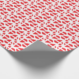 DENMARK HEART SHAPE FLAG WRAPPING PAPER