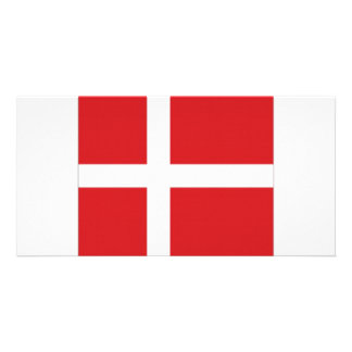 Denmark National Flag Personalized Photo Card