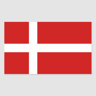 Denmark Rectangular Sticker