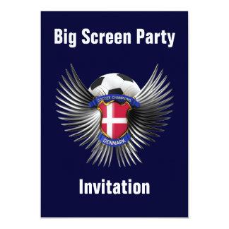 Denmark Soccer Champions 13 Cm X 18 Cm Invitation Card