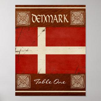 Denmark Table Number Poster