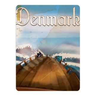 Denmark Vintage Travel Poster Card