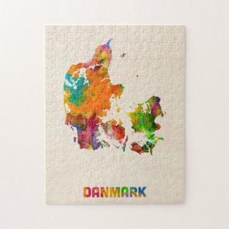 Denmark Watercolor Map Puzzles