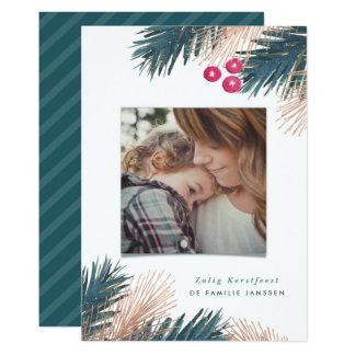 Dennen en Bessen Kerst Card