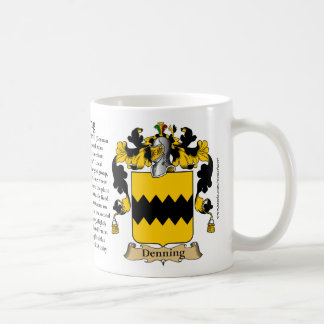 Denning (G), the Origin, the Meaning and the Crest Basic White Mug