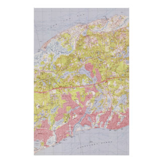 Dennis and Yarmouth Massachusetts Map (1974) Poster