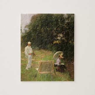 Dennis Miller Bunker Painting at Calcot by Sargent Jigsaw Puzzle