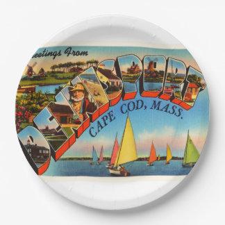 Dennisport Cape Cod Massachusetts MA Old Travel 9 Inch Paper Plate