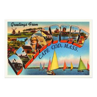 Dennisport Cape Cod Massachusetts MA Old Travel Photo Art