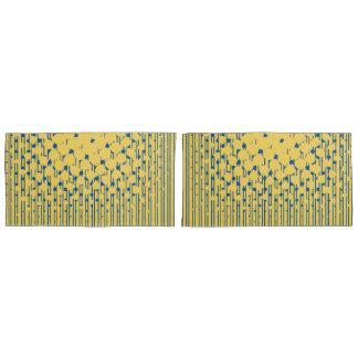 Density Design in Primrose Yellow & Lapis Blue Pillowcase