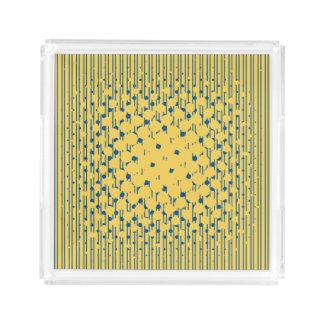Density in Primrose Yellow & Lapis Blue Acrylic Tray