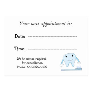 Dental Appointment Business Card Template