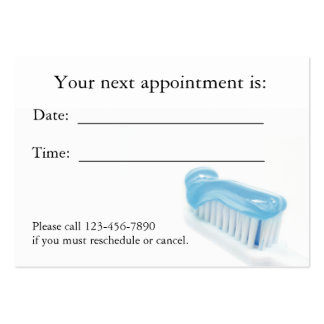 Dental Appointment Card Business Card Template
