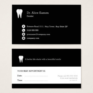 Dental Appointment Card   Classic Dentist