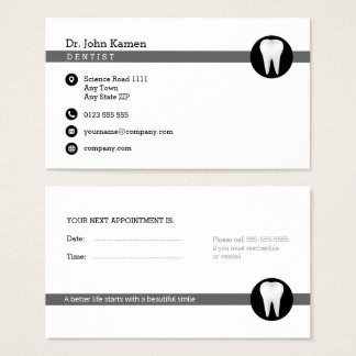 Dental Appointment Card   Professional Classy