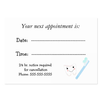 Dental Appointment Pack Of Chubby Business Cards