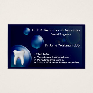 Dental Art Blue Bubble Design Card