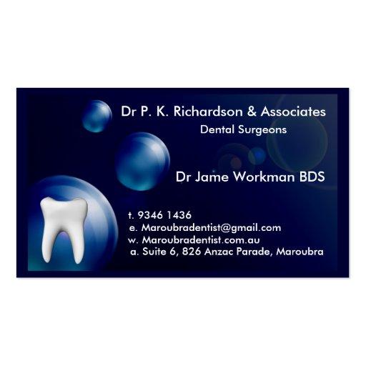 Dental art business card