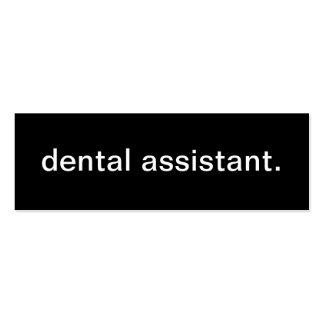 Dental Assistant Business Card
