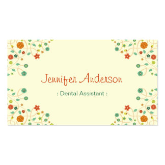 Dental Assistant - Chic Nature Stylish Pack Of Standard Business Cards