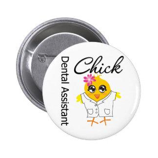 Dental Assistant Chick 6 Cm Round Badge