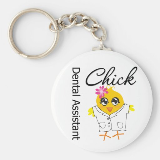 Dental Assistant Chick Keychain