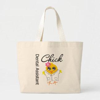 Dental Assistant Chick Jumbo Tote Bag