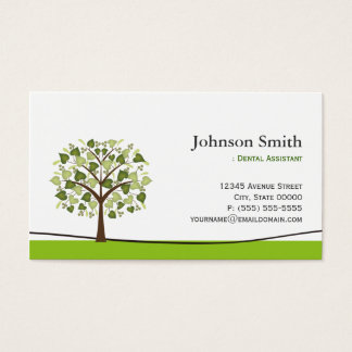 Dental Assistant - Elegant Wish Tree Business Card
